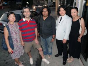 左より、スンジー・ホン、パナヨティス・ココラス、タズル・イザン・タジュディン、今堀拓也、深澤倫子