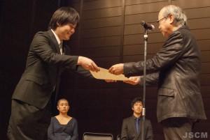 川合清裕(左)福士則夫日本現代音楽協会会長